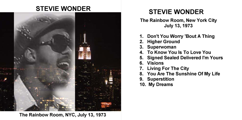 Rainbow Room New York City Stevie Wonder